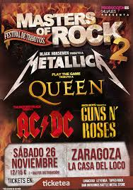 MASTERS OF ROCK 2 @ LA CASA DEL LOCO  | Zaragoza | Aragón | España