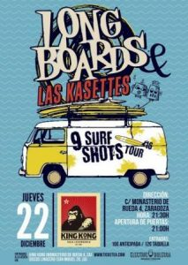 THE LONGBOARDS + LAS KASETTES @ SALA KING KONG | Zaragoza | Aragón | España