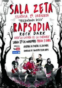 RAPSODIA ROCK DARK + DANDO BREA @ SALA Z | Zaragoza | Aragón | España