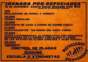 JORNADA PRO REFUGIADOS @ CSO KIKE MUR | Zaragoza | Aragón | España