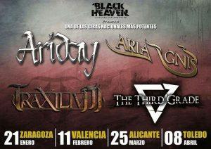 ARIDAY + ARIA IGNIS + TRAXILIUM + THE THIRD GRADE @ LA BÓVEDA DEL ALBERGUE | Zaragoza | Aragón | España