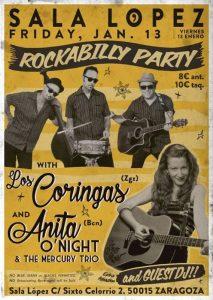 LOS CORINGAS + ANITA O´NIGHT & THE MERCURY TRIO @ SALA LÓPEZ | Zaragoza | Aragón | España
