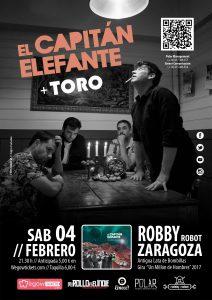 EL CAPITÁN ELEFANTE + TORO @ Sala Robby Robot | Zaragoza | Aragón | España