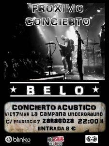 BELO @ LA CAMPANA UNDERGROUND | Zaragoza | Aragón | España