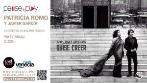PATRICIA ROMO Y JAVIER GARCÍA @ PAUSE & PLAY | Zaragoza | Aragón | España