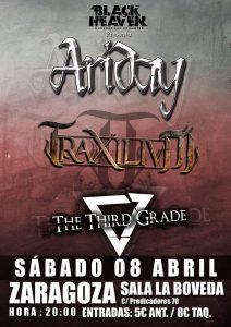 ARIDAY + TRAXILIUM + THE THIRD GRADE @ LA BÓVEDA DEL ALBERGUE | Zaragoza | Aragón | España