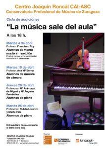 LA MUSICA SALE DEL AULA @ CENTRO JOAQUIN RONCAL | Zaragoza | Aragón | España