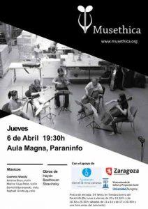 MUSETHICA: CUARTETO WASSILY @ EDIFICIO PARANINFO | Zaragoza | Aragón | España