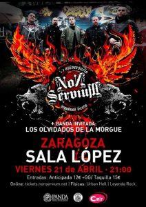 NON SERVIUM + LOS OLVIDADOS DE LA MORGUE @ SALA LÓPEZ | Zaragoza | Aragón | España