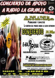 CONCIERTO APOYO A RADIO LA GRANJA @ CSO KIKE MUR | Zaragoza | Aragón | España