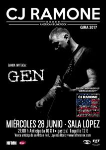 CJ RAMONE + GEN @ SALA LÓPEZ | Zaragoza | Aragón | España