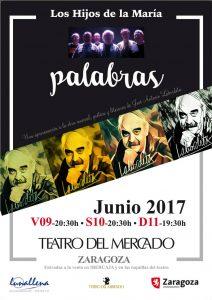 PALABRAS @ TEATRO DEL MERCADO | Zaragoza | Aragón | España