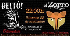 DELTÓ! @ PUB EL ZORRO | Zaragoza | Aragón | España