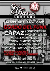 10º ANIVERSARIO EL BARRIO RECORDS @ SALA LÓPEZ | Zaragoza | Aragón | España