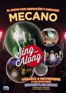 SING-ALONG - MECANO @ LAS ARMAS | Zaragoza | Aragón | España
