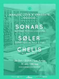 SONARS, SØLER Y CHELIS @ LAS ARMAS | Zaragoza | Aragón | España