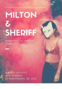 MILTON + SHERIFF @ AVV ARREBATO | Zaragoza | Aragón | España