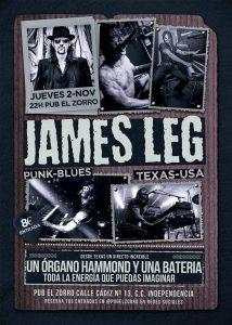 JAMES LEG @ PUB EL ZORRO | Zaragoza | Aragón | España