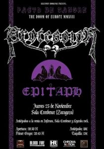 PROCESSION + EPITAPH @ SALA CREEDENCE | Zaragoza | Aragón | España