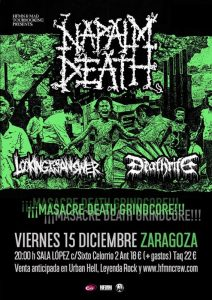 NAPALM DEATH + DEATHRITE + LOOKING FOR AN ANSWER + ÓSSERP @ SALA LÓPEZ | Zaragoza | Aragón | España