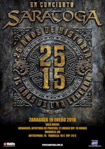 SARATOGA @ OASIS CLUB TEATRO | Zaragoza | Aragón | España