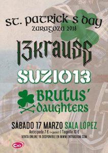 13 KRAUSS + SUZIO 13 + BRUTUS´DAUGHTERS @ SALA LÓPEZ | Zaragoza | Aragón | España