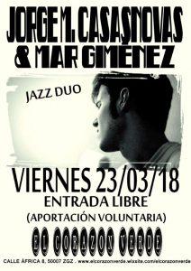 JORGE MARTÍNEZ CASASNOVAS & MAR GIMÉNEZ @ TERRAZA EL CORAZON VERDE | Zaragoza | Aragón | España