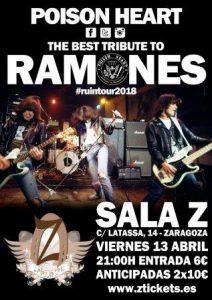 POISON HEART - Tributo a RAMONES @ SALA ZETA | Zaragoza | Aragón | España