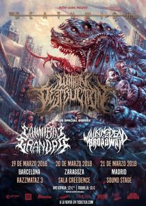 WITHIN DESTRUCTION + CANNIBAL GRANDPA + WADOB @ SALA CREEDENCE | Zaragoza | Aragón | España