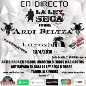 KAROSHI + ARDI BELTZA @ LA LEY SECA | Zaragoza | Aragón | España