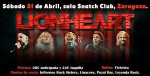 LIONHEART @ SNATCH CLUB | Zaragoza | Aragón | España