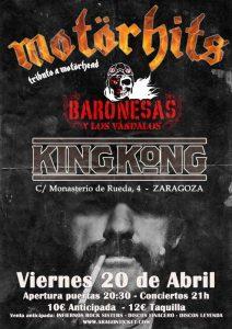 MOTÖRHITS + BARONESAS + LOS VÁNDALOS @ SALA KING KONG | Zaragoza | Aragón | España