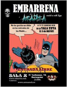 EMBARRENA + ARADIA @ SALA ZETA | Zaragoza | Aragón | España
