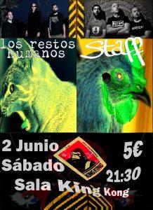 STAFF + LOS RESTOS HUMANOS @ SALA KING KONG | Zaragoza | Aragón | España