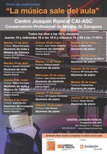 LA MÚSICA SALE DEL AULA @ CENTRO JOAQUÍN RONCAL | Zaragoza | Aragón | España