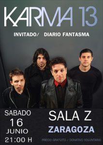 KARMA 13 @ SALA ZETA | Zaragoza | Aragón | España