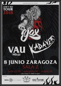 YAX + KADAVER + VAU @ SALA ZETA | Zaragoza | Aragón | España