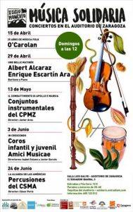 II CICLO MONCAYO DE MÚSICA SOLIDARIA @ SALA LUIS GALVE | Zaragoza | Aragón | España