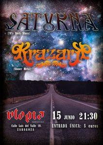 SATURNA + KRAZARK @ SALA UTOPÍA | Zaragoza | Aragón | España