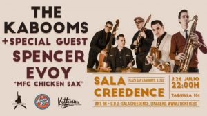 THE KABOOMS + SPENCER EVOY @ SALA CREEDENCE | Zaragoza | Aragón | España