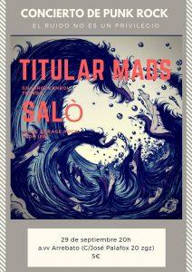 TITULAR MADS + SALÒ + SICK OUT @ AVV ARREBATO | Zaragoza | Aragón | España