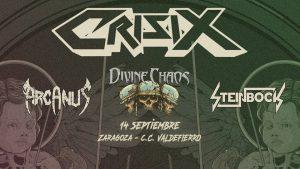 CRISIX + DIVINE CHAOS + ARCANUS + STEINBOCK @ CENTRO CIVICO VALDEFIERRO | Zaragoza | Aragón | España