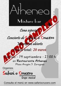 SAFARI O CRUCERO @ Athenea mixture bar | Zaragoza | Aragón | España