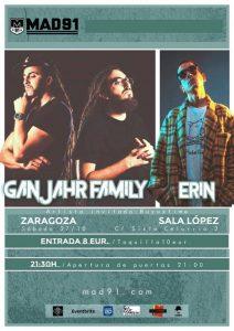 GANJAHR FAMILY + ERIN + BUYUZTIME @ SALA LÓPEZ | Zaragoza | Aragón | España