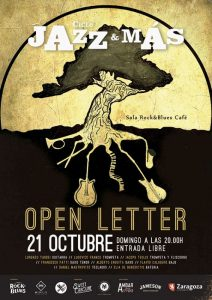 OPEN LETTER JAZZ @ ROCK & BLUES | Zaragoza | Aragón | España