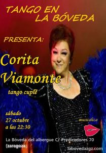 CORITA VIAMONTE + MILONGA TANGUERA @ LA BÓVEDA DEL ALBERGUE | Zaragoza | Aragón | España