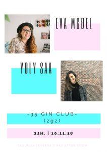 EVA McBEL + YOLY SAA @ EL 35 GIN CLUB | Zaragoza | España