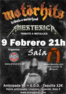 MOTÖRHITS + ANESTESICA @ SALA ZETA