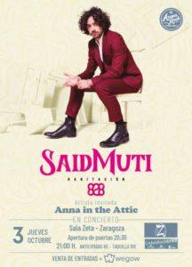 SAID MUTI + ANNA IN THE ATTIC @ SALA ZETA